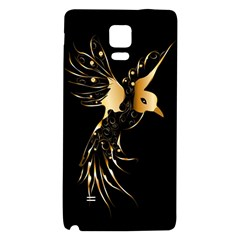 Beautiful Bird In Gold And Black Galaxy Note 4 Back Case