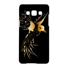Beautiful Bird In Gold And Black Samsung Galaxy A5 Hardshell Case