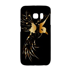 Beautiful Bird In Gold And Black Galaxy S6 Edge