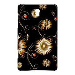 Golden Flowers On Black Background Samsung Galaxy Tab S (8.4 ) Hardshell Case