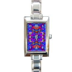 Abstract 4 Rectangle Italian Charm Watches