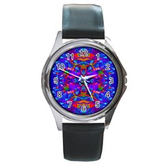 Abstract 4 Round Metal Watches