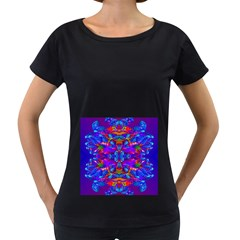 Abstract 4 Women s Loose-Fit T-Shirt (Black)