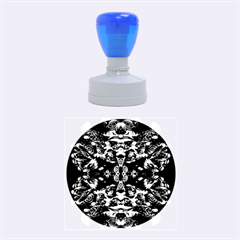 Abstract 4 Rubber Round Stamps (Medium)