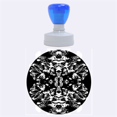 Abstract 4 Rubber Round Stamps (Large)