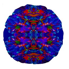 Abstract 4 Large 18  Premium Round Cushions