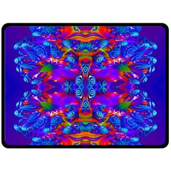 Abstract 4 Double Sided Fleece Blanket (Large)