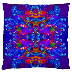 Abstract 4 Large Flano Cushion Cases (Two Sides)
