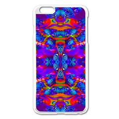 Abstract 4 Apple Iphone 6 Plus Enamel White Case