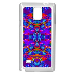 Abstract 4 Samsung Galaxy Note 4 Case (White)