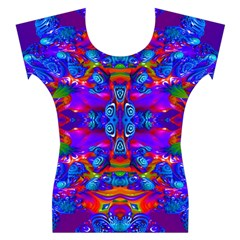 Abstract 4 Women s Cap Sleeve Top