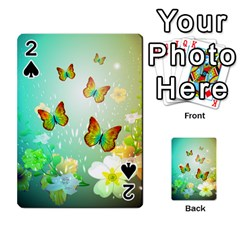 Flowers With Wonderful Butterflies Playing Cards 54 Designs