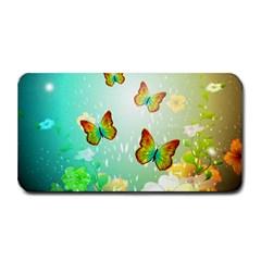 Flowers With Wonderful Butterflies Medium Bar Mats
