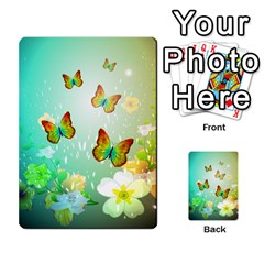 Flowers With Wonderful Butterflies Multi Purpose Cards (rectangle)