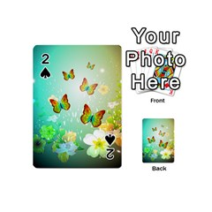 Flowers With Wonderful Butterflies Playing Cards 54 (Mini)