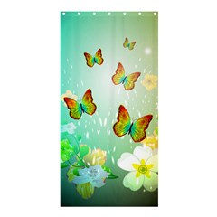 Flowers With Wonderful Butterflies Shower Curtain 36  x 72  (Stall)