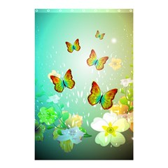 Flowers With Wonderful Butterflies Shower Curtain 48  x 72  (Small)