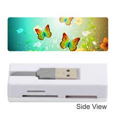 Flowers With Wonderful Butterflies Memory Card Reader (Stick)
