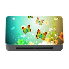 Flowers With Wonderful Butterflies Memory Card Reader with CF