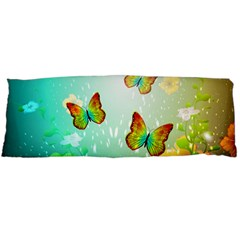 Flowers With Wonderful Butterflies Body Pillow Cases Dakimakura (two Sides)