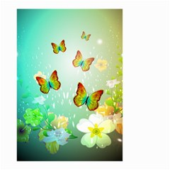 Flowers With Wonderful Butterflies Small Garden Flag (Two Sides)