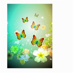 Flowers With Wonderful Butterflies Large Garden Flag (Two Sides)