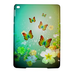 Flowers With Wonderful Butterflies iPad Air 2 Hardshell Cases