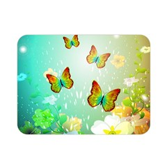 Flowers With Wonderful Butterflies Double Sided Flano Blanket (mini)