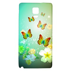 Flowers With Wonderful Butterflies Galaxy Note 4 Back Case