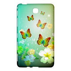 Flowers With Wonderful Butterflies Samsung Galaxy Tab 4 (8 ) Hardshell Case