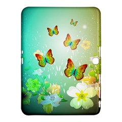 Flowers With Wonderful Butterflies Samsung Galaxy Tab 4 (10 1 ) Hardshell Case