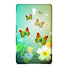 Flowers With Wonderful Butterflies Samsung Galaxy Tab S (8.4 ) Hardshell Case