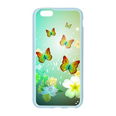 Flowers With Wonderful Butterflies Apple Seamless iPhone 6 Case (Color)