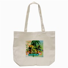 Surfing Tote Bag (Cream)