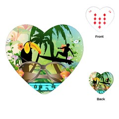 Surfing Playing Cards (Heart)