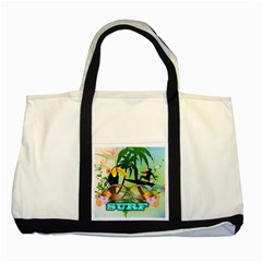 Surfing Two Tone Tote Bag