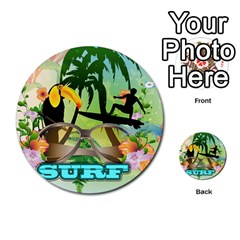 Surfing Multi-purpose Cards (Round)