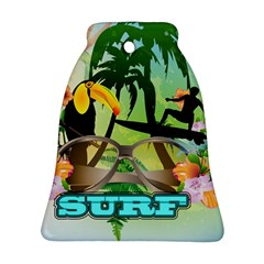 Surfing Bell Ornament (2 Sides)