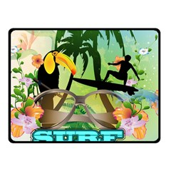 Surfing Double Sided Fleece Blanket (Small)