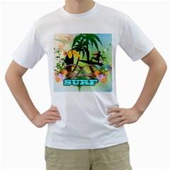 Surfing Men s T-Shirt (White)