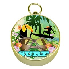 Surfing Gold Compasses