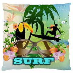 Surfing Standard Flano Cushion Cases (one Side)