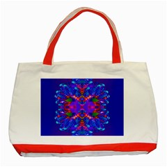 Abstract 5 Classic Tote Bag (Red)