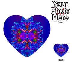 Abstract 5 Multi Purpose Cards (heart)