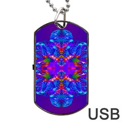 Abstract 5 Dog Tag Usb Flash (two Sides)