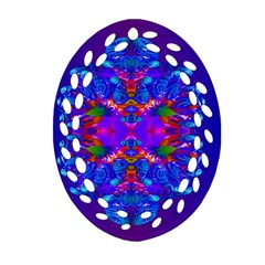 Abstract 5 Oval Filigree Ornament (2-Side)