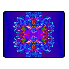 Abstract 5 Double Sided Fleece Blanket (Small)