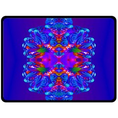 Abstract 5 Double Sided Fleece Blanket (large)