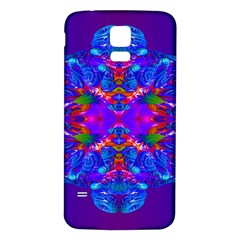 Abstract 5 Samsung Galaxy S5 Back Case (White)
