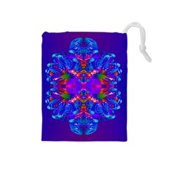 Abstract 5 Drawstring Pouches (Medium)